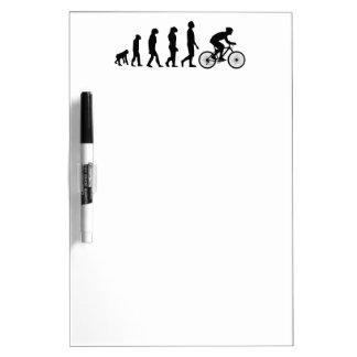 Modern Cycling Human Evolution Scheme Dry Erase Board