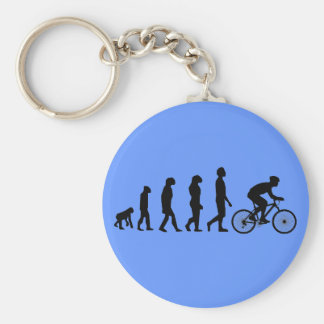 Modern Cycling Human Evolution Scheme Keychain
