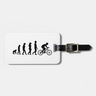 Modern Cycling Human Evolution Scheme Luggage Tags