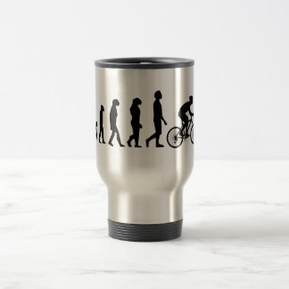 Modern Cycling Human Evolution Scheme Stainless Steel Travel Mug