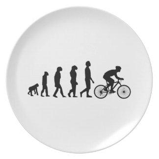 Modern Cycling Human Evolution Scheme Plate
