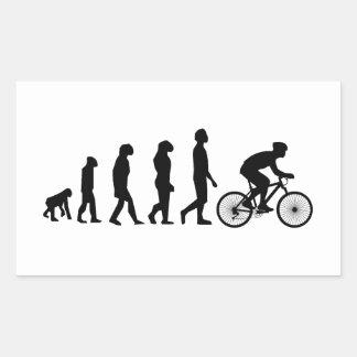 Modern Cycling Human Evolution Scheme Rectangular Sticker