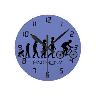 Modern Cycling Human Evolution Scheme Round Clocks