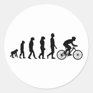 Modern Cycling Human Evolution Scheme Round Sticker