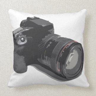 Modern D-SLR Camera Throw Pillow
