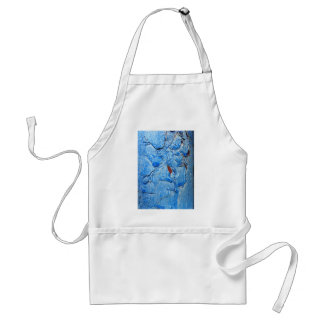 Modern Dacay Design With Striking Pealing Blue Adult Apron