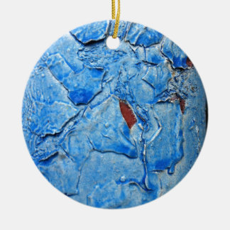 Modern Dacay Design With Striking Pealing Blue Ceramic Ornament