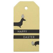 Modern Dachshund Easter gift tag