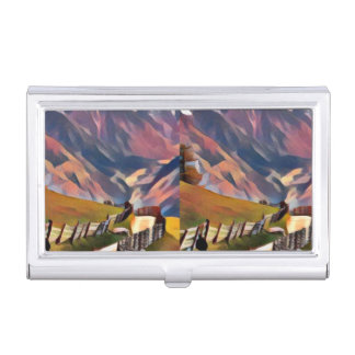 modern, dadaism,digital,painting,colorful,norway,n business card case