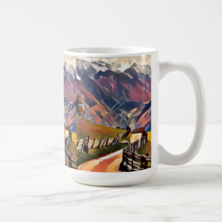 modern, dadaism,digital,painting,colorful,norway,n coffee mug