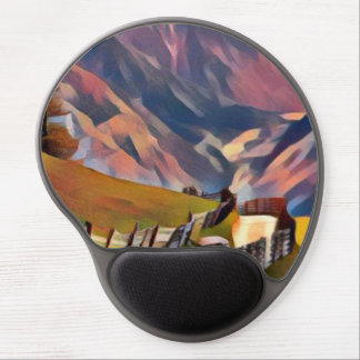 modern, dadaism,digital,painting,colorful,norway,n gel mouse pad