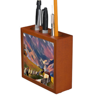 modern, dadaism,digital,painting,colorful,norway,n Pencil/Pen holder