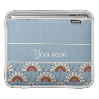 Modern Daisies and Polka Dots Sleeve For iPads