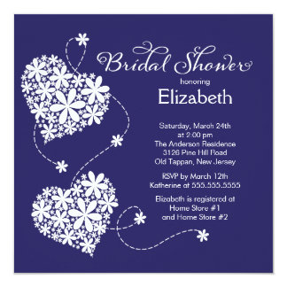 Modern Daisy Hearts Bridal Shower Invitation