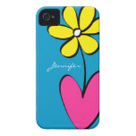 Modern Daisy Personalized iPhone 4/4S Case