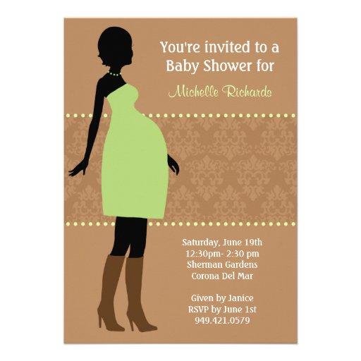 Elegant Baby Shower Invitation with beautiful invitation example