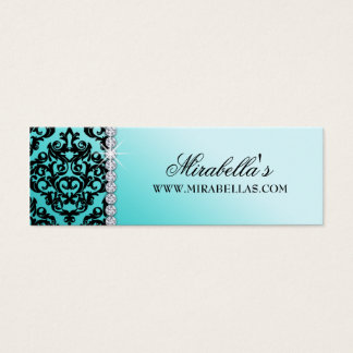 Modern Damask Fashion Price Gift Tag Birthday Mini Business Card