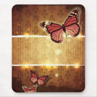 modern Damask glamorous Butterfly Wedding Mouse Pad