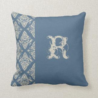 Modern Damask Hand Painted Monogrammed Decor Pillows