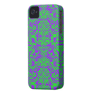 Modern Damask ~ Purple and Green iPhone 4 Cover