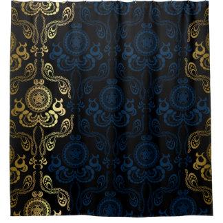 Elegant Gold Damask Shower Curtains | Zazzle