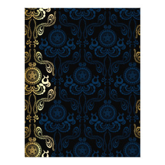 modern,damasks,floral,gold,swirl,elegant,chic,then letterhead