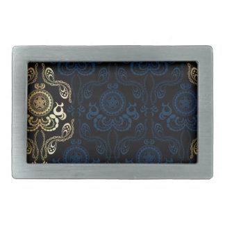 modern,damasks,floral,gold,swirl,elegant,chic,then rectangular belt buckle