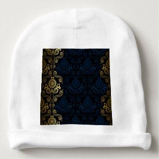 modern,damasks,floral,gold,swirl,elegant,chic,tren baby beanie