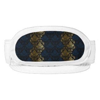 modern,damasks,floral,gold,swirl,elegant,chic visor