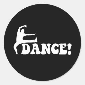 modern dance classic round sticker