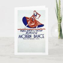 Modern Dance Festival 1938 WPA Card