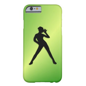 Modern Dance Green Barely There iPhone 6 Case