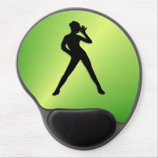 Modern Dance Green Gel Mouse Pad