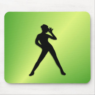 Modern Dance Green Mouse Pad