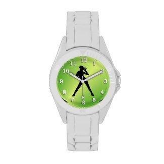 Modern Dance Green Wristwatches