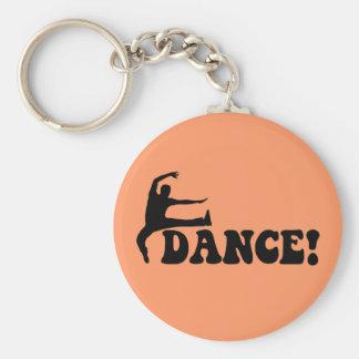 modern dance keychain