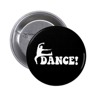 modern dance pinback button