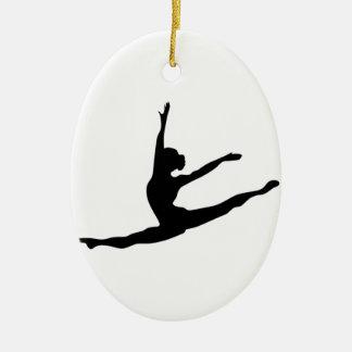 Modern Dancer Ceramic Ornament