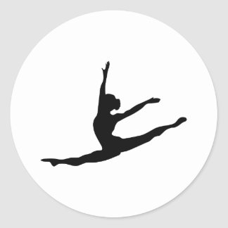 Modern Dancer Classic Round Sticker