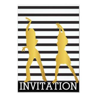 Modern Dancer Disco Club Vip Invitation