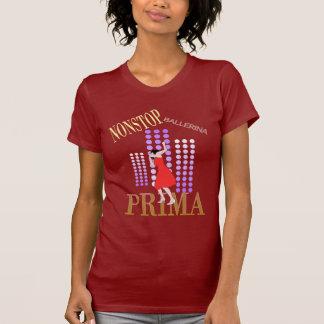 Modern dancer in red dress t-shirt