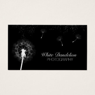 Modern Dandelion Blowing Photographer Photography Business Card
