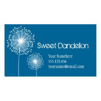 Modern Dandelion Flower CUSTOM COLOR Business Card
