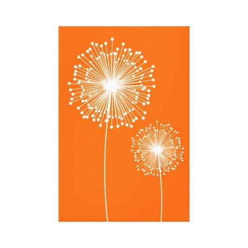 Modern Dandelion Flower CUSTOM COLOR Canvas Print