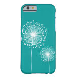 Modern Dandelion Flower CUSTOM COLOR case Barely There iPhone 6 Case