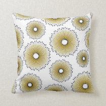 Modern Dandelion Flower Pattern in Butter Yellow Throw Pillow