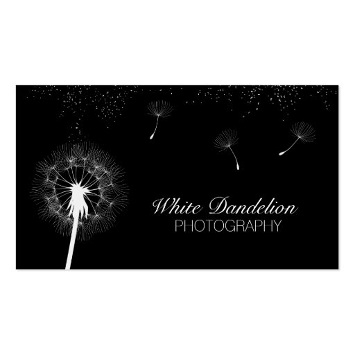 Modern Dandelion Photography Business Cards