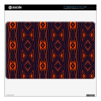 Modern dark colors pattern skin for the MacBook air