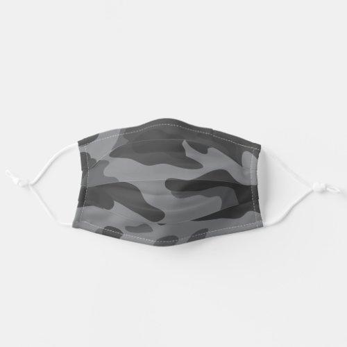 Modern Dark Gray Camo Pattern Cloth Face Mask