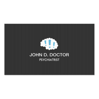 Modern dark gray professional psychiatrist business card